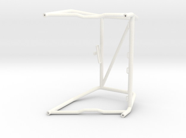 as2009-01  Axial F100 Int. Interior Cage in White Processed Versatile Plastic