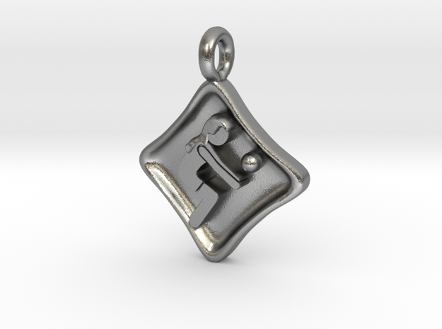 VolleyPendant 012 in Natural Silver