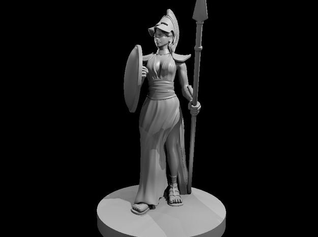 Female Greek Paladin 2 in Smooth Fine Detail Plastic
