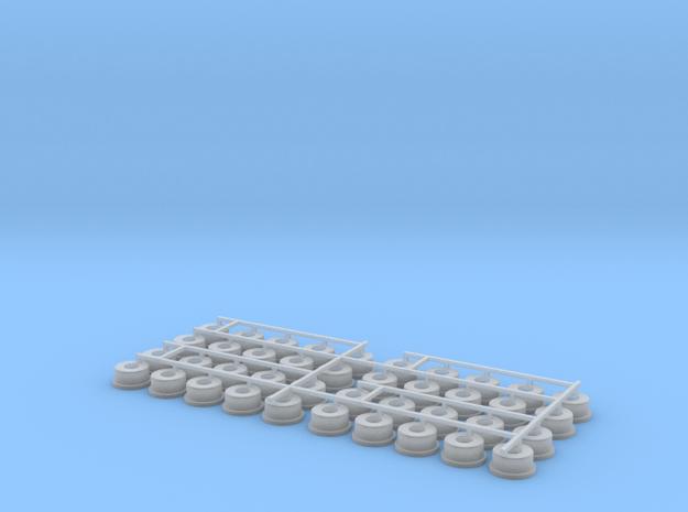 40 x Anhängerfelgen in Smooth Fine Detail Plastic