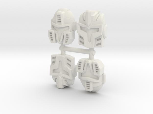 Cyberjet Faceplate 4-Pack in White Natural Versatile Plastic