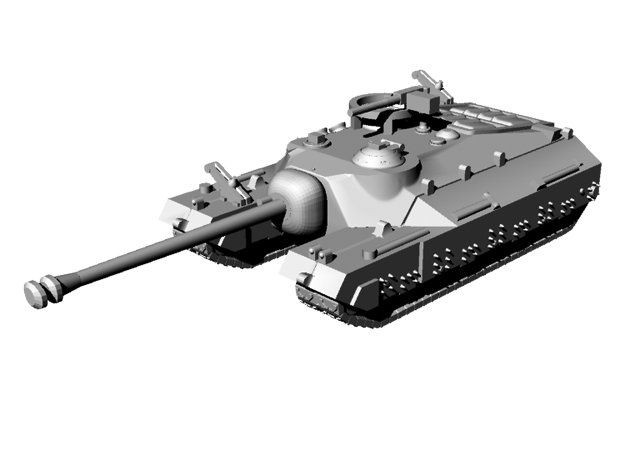 1/144 WWII US T28 Super Heavy Tank in Smooth Fine Detail Plastic