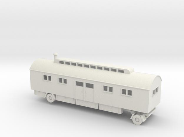 1/100 Wohnwagen trailer for Luftwaffe pilots in White Natural Versatile Plastic