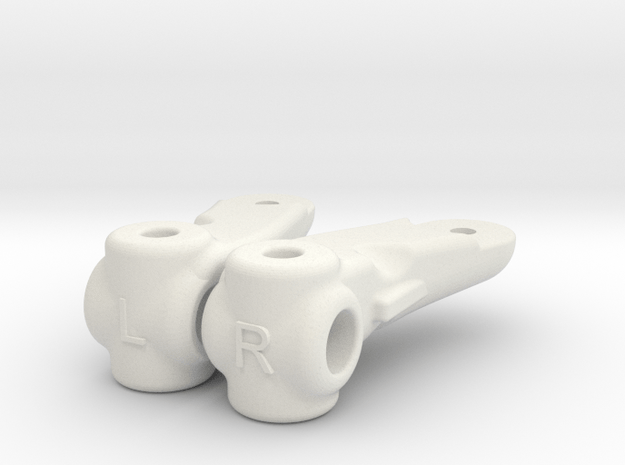 BP4 & BP5 Dyna Storm Knuckle Arms in White Natural Versatile Plastic