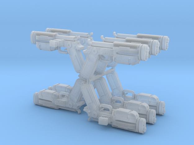 Super Katarn Blasters 10 pack  in Smooth Fine Detail Plastic