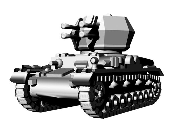 1/144 WWII German Flak Panzer IV Wirbelwind in Smooth Fine Detail Plastic