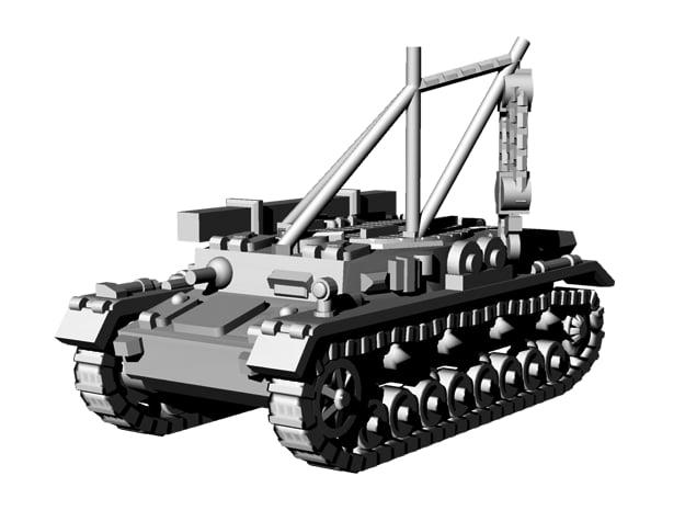 1/144 WWII German Bergepanzer IV in Smooth Fine Detail Plastic