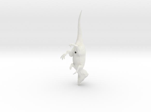 Aquilops walking pose in White Natural Versatile Plastic