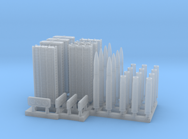 88mm Ammo with Wicker Container 1/56 scale in Smooth Fine Detail Plastic