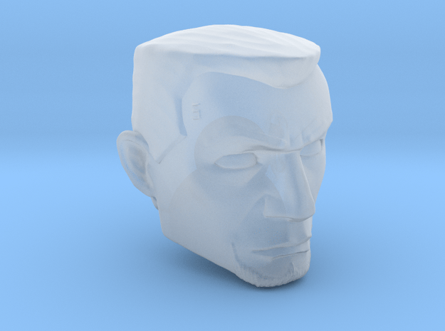 Animated Fives Headsculpt for 1:12 scale in Smooth Fine Detail Plastic