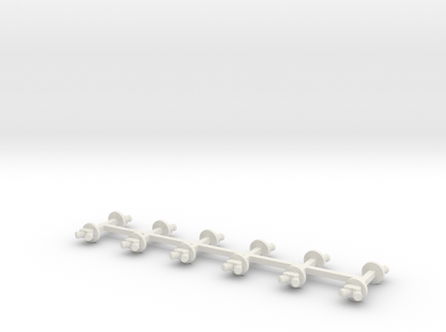 HO FDC (Fire Department Connection) 12 units wall  in White Natural Versatile Plastic