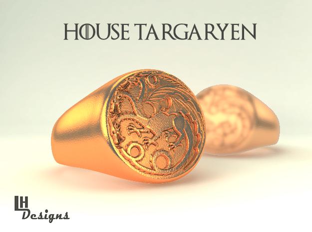 Size 11 Targaryen Ring in Natural Bronze
