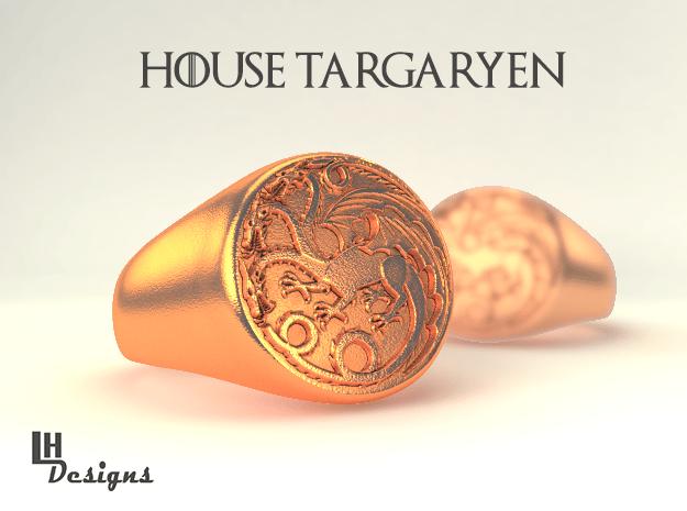 Size 13 Targaryen Ring in Natural Bronze