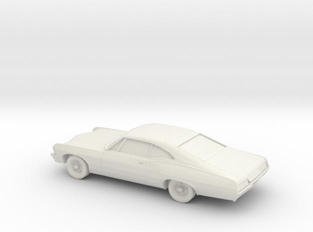 1/80 1967 Chevrolet Impala Coupe in White Natural Versatile Plastic