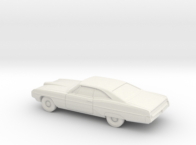 1/80 1968 Pontiac Bonneville Coupe in White Natural Versatile Plastic