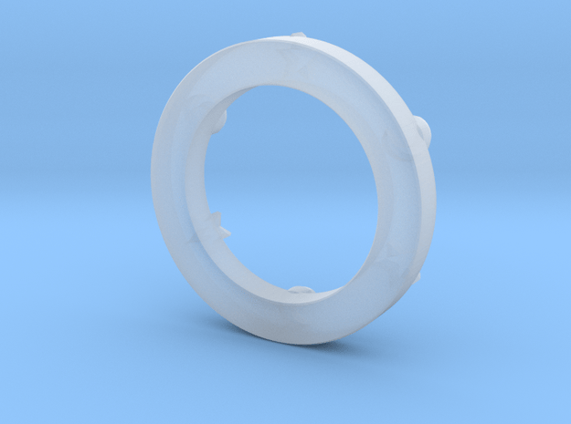 Trolian Symbol in Smoothest Fine Detail Plastic