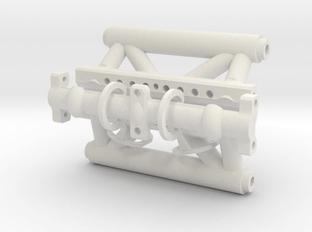 Clamping Sway Bar Mount for Axial Capra in White Natural Versatile Plastic