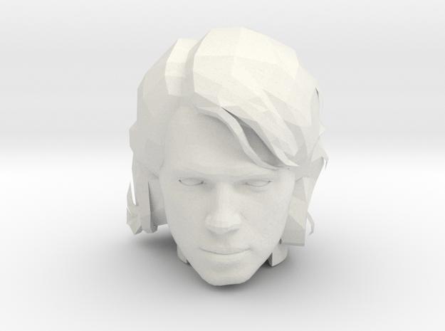 Anakin Skywalker Head   CCBS Scale in White Natural Versatile Plastic
