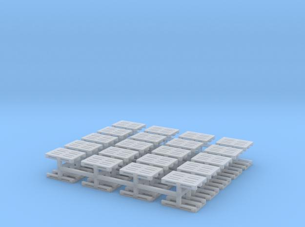 Europaletten 40er Set - TT 1:120 in Smooth Fine Detail Plastic