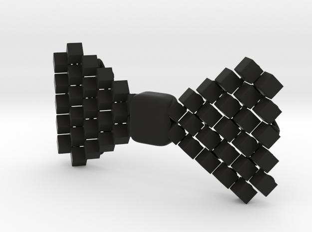 Cube Bow Tie in Black Natural Versatile Plastic