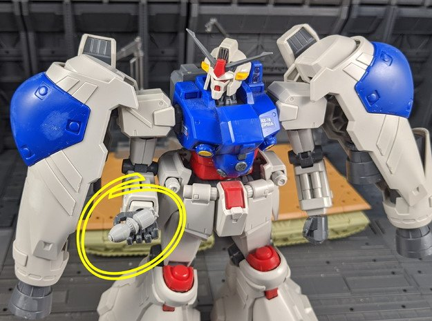 Gundam GP02 Warhead 1/100 Scale 4 pack in White Natural Versatile Plastic