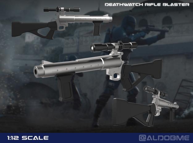 Death Watch Blaster rifle in Smooth Fine Detail Plastic