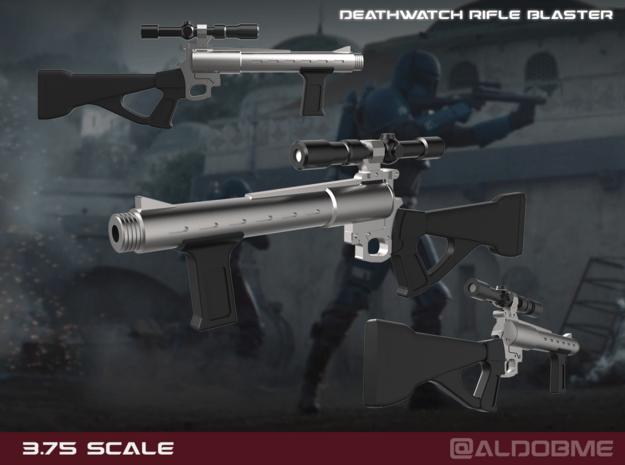 Death Watch Blaster rifle 3.75 scale in Smooth Fine Detail Plastic