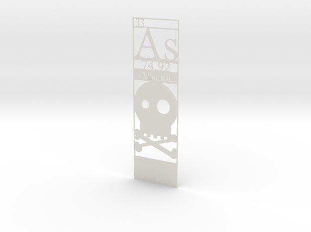 Elemental Bookmark - Arsenic customization in White Natural Versatile Plastic