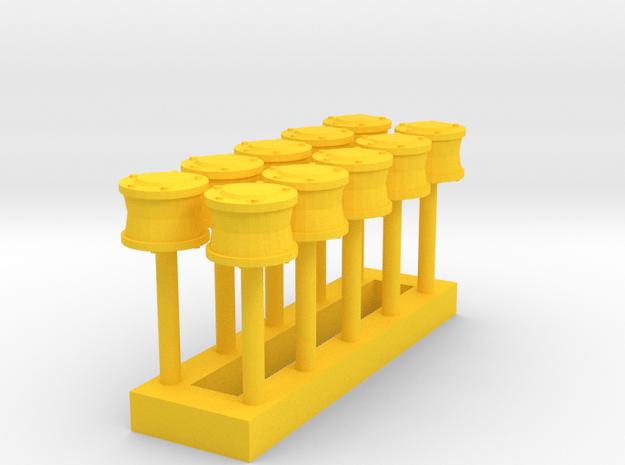 L-02 Mechanical Flange Lubricators (Pack of 10) in Yellow Processed Versatile Plastic
