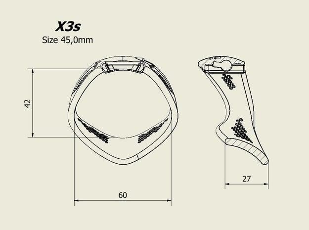 X3S Ring 45mm in Black PA12