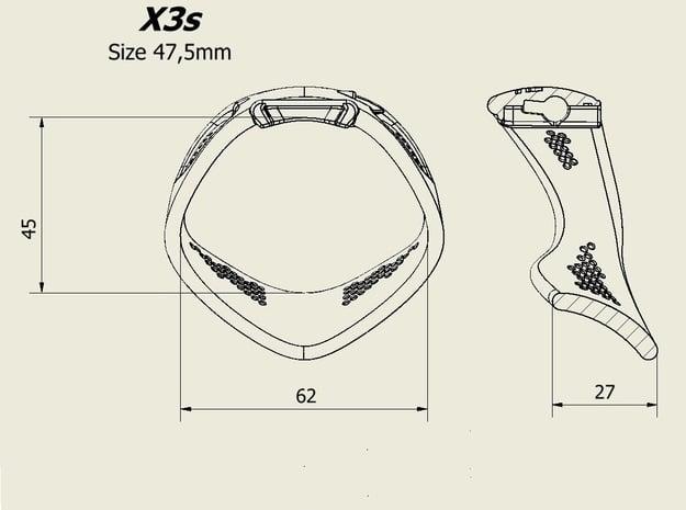 X3S Ring 47,5mm in Black PA12