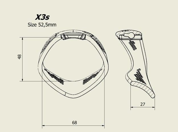 X3S Ring 52,5mm in Black PA12