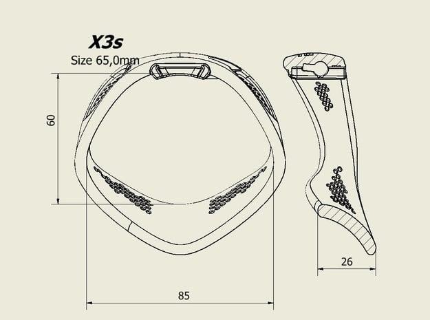 X3S Ring 65mm  in Black PA12