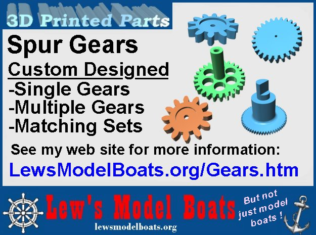Spur Gears (custom) in White Natural Versatile Plastic