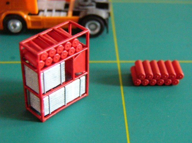 Schwerlastturm V1 - 1:120 TT in Smooth Fine Detail Plastic