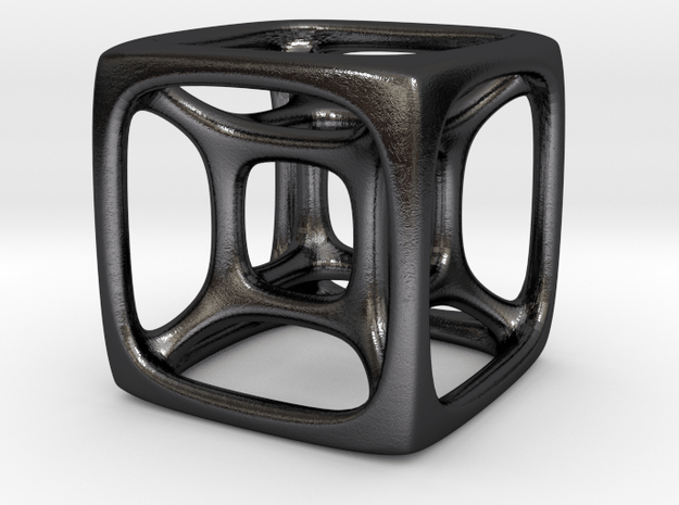 qubed in Polished and Bronzed Black Steel