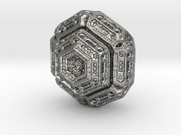 Hexagonal mandelbulb in Natural Silver