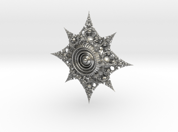 fractal compass in Natural Silver