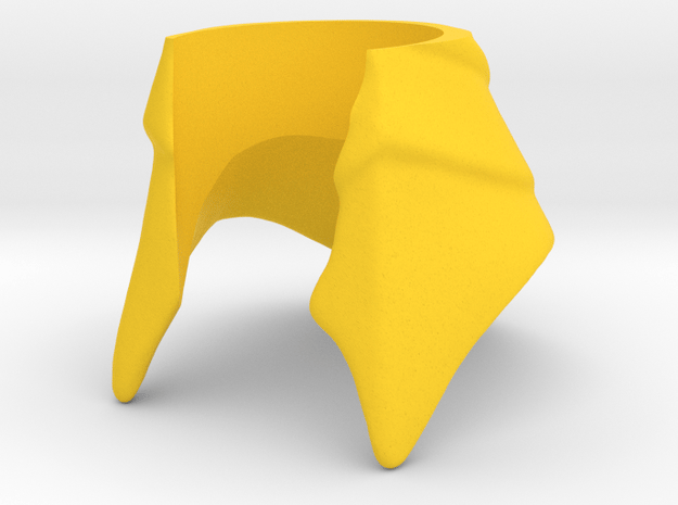 King Hssss Helmet for Snake form in Yellow Processed Versatile Plastic