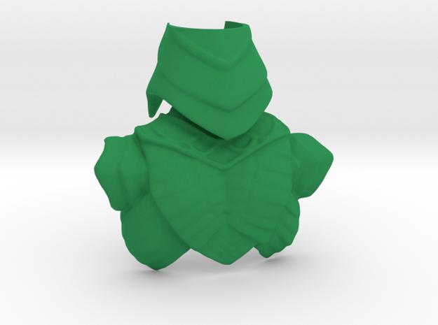 King Hssss Snake form Back Armor & Helmet in Green Processed Versatile Plastic