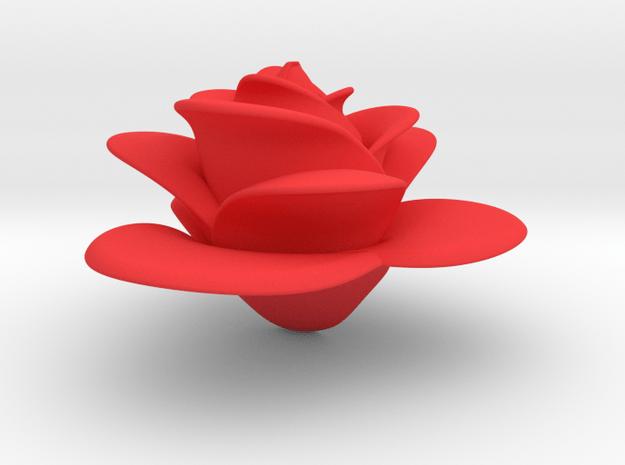 Rose in Red Processed Versatile Plastic