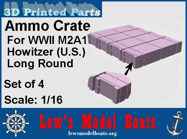 105mmHE-round-box-SW-1@16-X4 in White Natural Versatile Plastic: 1:16