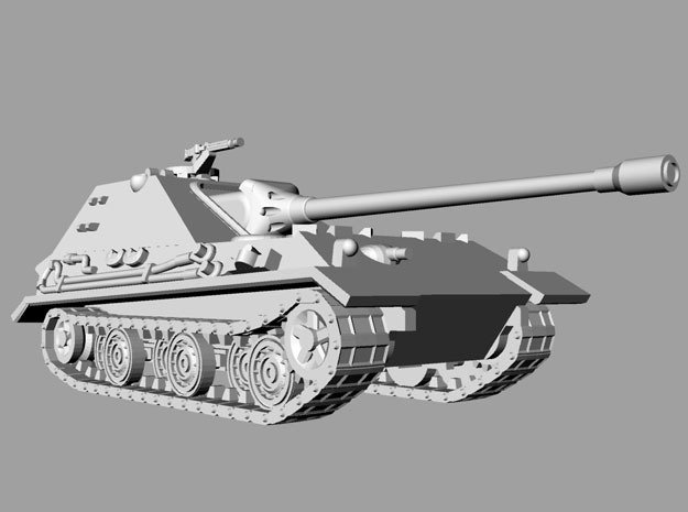 1/144 WWII German Jadgpanzer E-50 in Smooth Fine Detail Plastic
