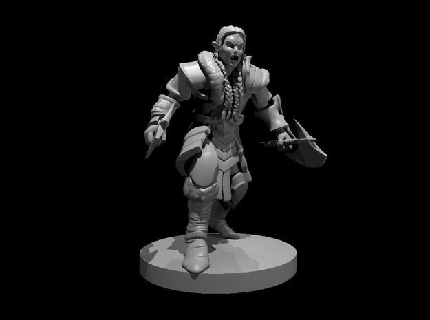 Elven Barbarian 2 in Smooth Fine Detail Plastic