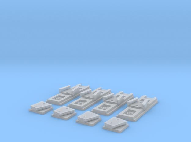 Eaglemoss Ecto-1 GB Proton Pack V-Hooks in Smooth Fine Detail Plastic