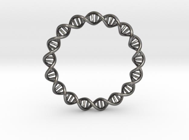 dna bracelet in Polished Nickel Steel