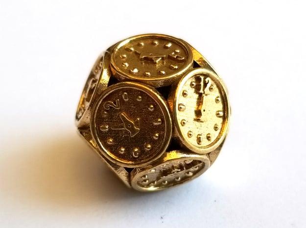 D12 Balanced - Steam Clock in Natural Brass