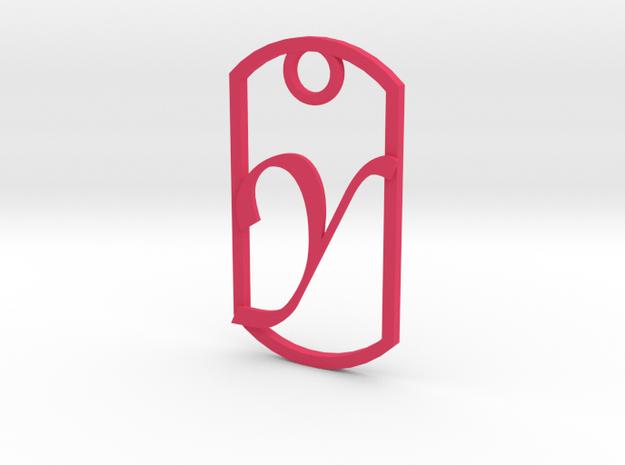 """""""Y"""" key fob in Pink Processed Versatile Plastic"""