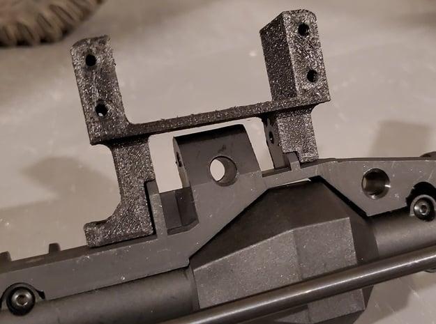 Servo On Axle Mount - Redcat Wendigo Axles in Black Natural Versatile Plastic
