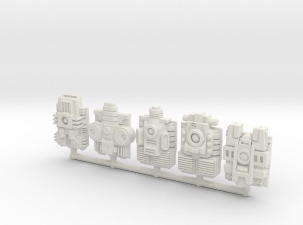 Titan/Prime PowerMaster 5-Pack in White Natural Versatile Plastic: Large